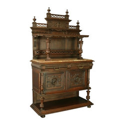 EuroLux Home - Consigned Antique French Renaissance Server/Buffet - Product Details
