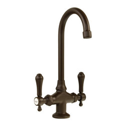"""Newport Brass - Newport Brass 1038 Double Handle Bar Faucet with Metal Lever Handles - Double Handle Bar Faucet with Metal Lever Handles from the 1030 Series FEATURES :  Bar Faucet Metal Lever Handles Single Hole Installation Solid Brass Construction Swivel Faucet 1/2"""" Valves Low Lead Compliant WaterSense Certified   SPECIFICATIONS :  Spout Reach - 5 1/16"""" Spout Height - 10 11/16"""" Overall Height - 13 15/16""""  READYSHIP AVAILABLE FINISHES Manufacturer Guaranteed Finishes in Stock  Oil Rubbed Bronze"""