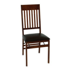 Cosco - Cosco Wood Folding Chair With Walnut Finish - This wood folding chair features a walnut finish that goes with virtually any decor. It's perfect for everyday use and is easy to store when not needed.