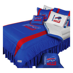 Store51 LLC - NFL Buffalo Bills Football Twin-Single Bed Comforter Set - Features: