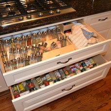 Kitchen Drawer Organizers by Wood Cabinet Design Inc.
