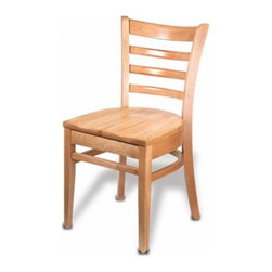 Holsag - Carole Side Chair (Teak) - Finish: TeakThe Carole Wood Side Chair combines contemporary styling with the rugged durability needed to go the distance. European beech frame. Elaborate 9-Step finishing process - Hand Stained Wood Finish, slight variations in color may occur. Commercial or home use. Slatted stool backs slatted for maximum comfort. 17 W x 21 D x 33.5 H in x 18 in. Seat Height