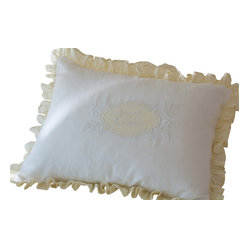 Sweet Dreams Cream & White Linen Standard Sham