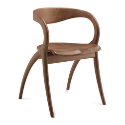 Domitalia - Star Dining Chair, Walnut - Swivel stool