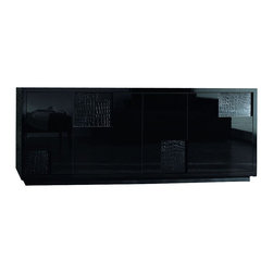 Rossetto - Nightfly Buffet in Black - Features: