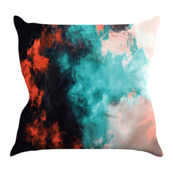 Kess InHouse - Caleb Troy 'Orange Sorbet' Throw Pillow - Rest among the art you love. Transform your hang out room into a hip gallery, that's also comfortable. With this pillow you can create an environment that reflects your unique style. It's amazing what a throw pillow can do to complete a room. (Kess InHouse is not responsible for pillow fighting that may occur as the result of creative stimulation).