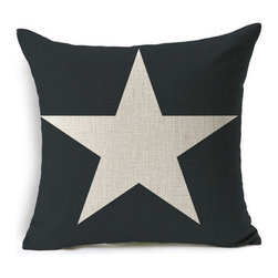 Contemporary Cushion Cover, Blue Star - Grab this cushion cover and accentuate your living room.