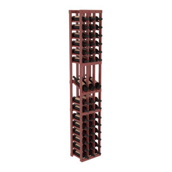 Wine Racks America - 3 Column Display Row Wine Cellar Kit in Pine, Cherry + Satin Finish - Make your best vintage the focal point of your wine cellar. High-reveal display rows create a more intimate setting for avid collectors wine cellars. Our wine cellar kits are constructed to industry-leading standards. You'll be satisfied. We guarantee it.
