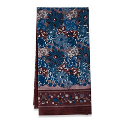"Candy Flower Tea Towels, Blue/Brown, 20""x30"""