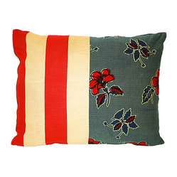 Red White and Blue Patchwork Pillow RENAME
