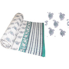 Printed Cotton Throws. Hand made in India, Chandni Chowk, Fair Trade Throws.