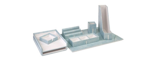 Imax - Maura Blue Desk Set with Gift Box - *Dimensions: see eCommerce
