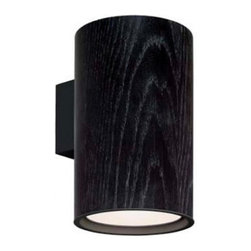 """ZERO - ZERO Wood Wall Sconce - The Wood wall sconce by Zero was designed by Frerik Mattson in 2010.  This lamp has an oiled oak veneer or black stained finish.  This contemporay wall sconce has an organic look and will blend in well in any decor.  Product description: The Wood wall sconce by Zero was designed by Frerik Mattson in 2010.  This lamp has an oiled oak veneer or black stained finish.  This contemporay wall sconce has an organic look and will blend in well in any decor.      Details:                         Manufacturer:                        Zero                                                 Designer:                        Fredrik Mattson                                         Made in:                        Sweden                                         Dimensions:                        Extends from Wall: 8.2"""" (21 cm) X Height: 9.5"""" (25 cm) X Width: 6.2"""" (16 cm)                                         Light bulb::                        LED 2000L 830                                         Material:                                                                                                            Wood Venner, Aluminum"""