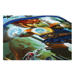 Franco Manufacturing Company INC - Lego Legends Chima Comforter Reversible Twin-Full Bedding - Features:
