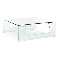 Zuo Modern - Zuo Modern Campaign Coffee Table Clear Glass - Clear glass beautifully hosts orchids, dignified coffee table books, or your morning mug of coffee. The Campaign Coffee Table is made of tempered glass with a smooth design. Fits seamlessly into any decor.