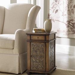 Hooker Furniture - Hooker Furniture Embossed Design Chairside Chest 500-50-866 - One drawer
