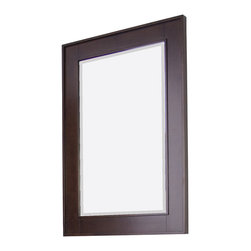 American Imaginations - 24-in. W x 32-in. H Transitional Birch Wood-Veneer Wood Mirror - This transitional wood mirror belongs to the exquisite Flair design series. It features a rectangle shape. This wood mirror is designed to be installed as an wall mount wood mirror. It is constructed with birch wood-veneer. This wood mirror comes with a lacquer-stain finish in Tobacco color. Simple and clean rectangle mirror with a sleek raised border constructed with a high quality premium glass with bevelled edges This Wood Mirror features Chrome hardware. Can be installed vertically or horizontally. No assembly required.