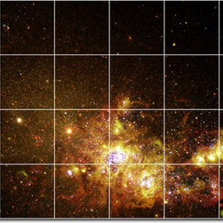 Picture-Tiles, LLC - Stars Galaxys Photo Backsplash Tile Mural 23 - * MURAL SIZE: 32x48 inch tile mural using (24) 8x8 ceramic tiles-satin finish.