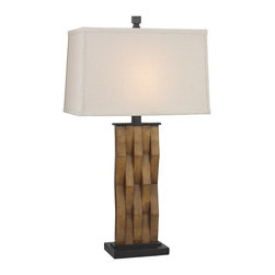 Design Classics Lighting - Table Lamp with Rectangle Shade - DCL 6923-1-502/63 SH7509 - Table lamp in ebony finish with a linen rectangle lamp shade. Takes (1) 100-watt incandescent three-way bulb(s). Bulb(s) sold separately. UL listed. Dry location rated.