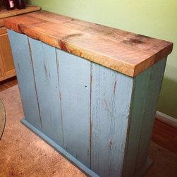 Reclaimed Wood Bar - Reclaimed Wood Custom Built Bar (Front View)