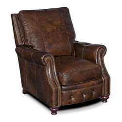 Hooker Furniture - Recliner - Leather: 088 Old Saddle Cocoa (Dark Brown)
