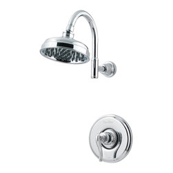 Price Pfister - Pfister R89-7YPC Ashfield Shower Only Trim Kit - Price Pfister R89-7YPC is an Ashfield Series Shower Only Trim, Metal Lever Handle, Round Flange, decorative Shower Head Shower Arm and Flange.