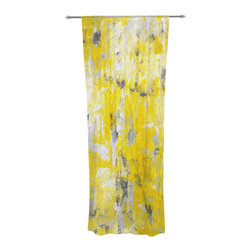 "Kess InHouse - CarolLynn Tice ""Picking Around"" Yellow Decorative Sheer Curtain - Let the light in with these sheer artistic curtains. Showcase your style with thousands of pieces of art to choose from. Spruce up your living room, bedroom, dining room, or even use as a room divider. These polyester sheer curtains are 30"" x 84"" and sold individually for mixing & matching of styles. Brighten your indoor decor with these transparent accent curtains."