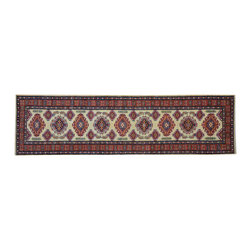1800 Get A Rug - Tribal and Geometric Super Kazak 100% Wool Runner Hand Knotted Rug Sh15243 - Our Tribal & Geometric hand knotted rug collection, consists of classic rugs woven with geometric patterns based on traditional tribal motifs. You will find Kazak rugs and flat-woven Kilims with centuries-old classic Turkish, Persian, Caucasian and Armenian patterns. The collection also includes the antique, finely-woven Serapi Heriz, the Mamluk Afghan, and the traditional village Persian rug.