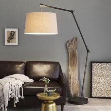 Industrial Overarching Floor Lamp | west elm