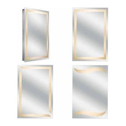Kimball & Young Aptations Sergena 3000HW Series Back-Lit Mirror - Non-Magnified high quality glass