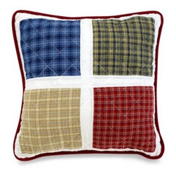 Britannica Home Fashions, Inc. - Ball Game 16-Inch Square Toss Pillow - This toss pillow keeps in the theme and makes a fun addition to the Ball Game bedding. 100% cotton with 100% polyester fill.