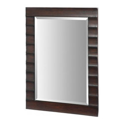 Xylem Wave Dark Expresso Bathroom Mirror - Manufacturer