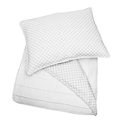 Crane & Canopy - 300 Thread Count  Reversible and Embroidered Duvet Cover, The Page Gray - This 300 thread count, super soft duvet is a modern take on the classic all-white bedding. Reversible, its details include a cloud-like soft gray pattern and light embroidery.