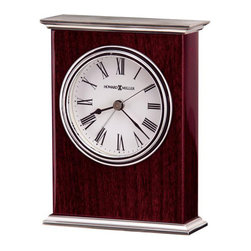 HOWARD MILLER - Howard Miller Alarm Clock - Kentwood - This carriage-style table alarm clock offers: