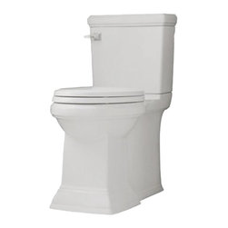 "American Standard - American Standard 2817.128.020 Town Square FloWise Elongated Toilet, White - American Standard 2817.128.020 Town Square FloWise Concealed Trapway Right Height Elongated Toilet,  White. This elongated toilet features a combination bowl, tank, and seat, a 12"" Rough-in, an EverClean system that inhibits the growth of bacteria, mold, and mildew, a PowerWash rim that scrubs the bowl with each flush, a fully-glazed 2"" trapway, an oversized 3"" flush valve, a chrome left-handed trip lever, and 2 color-matched bolt hole covers."