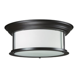 Z-Lite - Z-Lite Sonna Ceiling Light X-ZRB-61F4002 - Slim detailing and wide, cylindrical, matte opal glass shades complete this traditional but current bronze, three light Ceiling Light lamp.