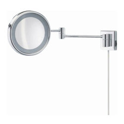 """Decor Walther - Decor Walther SPT 16 Cosmetic Mirror - The SPT 16 Cosmetic Mirror cosmetic mirror has been designed and made by Decor Walther.  The noble chrome surface of the    vanity  mirror looks very valued and  make applying makeup, shaving  and   other  activities easier and more  enjoyable. The SPT 16 cosmetic mirror available  in a 8-fold  magnification.   Product Details:  The SPT 16 Cosmetic Mirror cosmetic mirror has been designed and made by Decor Walther.  The noble chrome surface of the    vanity  mirror looks very valued and  make applying makeup, shaving  and   other  activities easier and more  enjoyable. The SPT 16 cosmetic mirror available  in a 8-fold  magnification.   Details:                                      Manufacturer:                                      Decor Walther                                                                  Designer:                                     In House Design                                                                  Made in:                                     Germany                                                                  Dimensions:                                      Diameter: 5.91"""" (15 cm) X Heigh: 2.76"""" (7 cm) X Depth: 18.11"""" (46 cm) X Width: 2.17"""" (5.5 cm)                                                                   Light bulb:                                      1 x E14 Max 15W                                                                  Material:                                      Metal"""