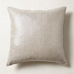 "Anthropologie - Shimmering Sunset Pillow - By Christen MaxwellBottom zipLinen; down fillDry cleanSmall: 18"" squareMedium: 26"" squareLarge: 30"" squareUSA"
