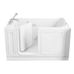 American Standard - American Standard 3260.210.SLW Walk-In Soaking Tub,  White - American Standard 3260.210.SLW Walk-In Soaking Tub,  White. This combo tub features an acrylic construction with fiberglass reinforcement, a watertight door system, a built-in chair height seat and color mateched grab bar, a textured tub floor, a left-side color matched waste and overflow, and a free standing metal suport frame.