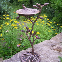 Oakland Living - Oakland Living Meadow Bird Bath - 5964-AB - Shop for Garden Bird Baths from Hayneedle.com! Additional Features Stand is designed to look like a tree branch Some assembly required Limited 1-year warranty