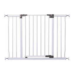 "Dreambaby - Liberty Xtra Gate - White - Dreambaby® Liberty Xtra Wide Hallway Security are great to use in larger doorways and hallways sized 100-106 cm (39-41.5""). With optional extensions, they can fit openings up to 160cm (63.0""). Gates are a fantastic way to protect your children from injury around the home. It stays open in both directions and convenietly swings and ajusts for quick and easy pass-through with a simple one-handed operation. These gates are pressure-mounted, which means fuss free installation with no screws or drilling required - perfect for temporary or rental properties."