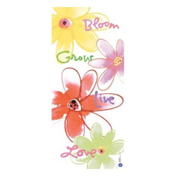 Westland - 8 x 18 Inch Bloom Grow Live Love Canvas Multi-Colored Wall Art - This gorgeous 8 x 18 Inch Bloom Grow Live Love Canvas Multi-Colored Wall Art  has the finest details and highest quality you will find anywhere! 8 x 18 Inch Bloom Grow Live Love Canvas Multi-Colored Wall Art  is truly remarkable.