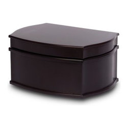 Mele Jacquelyn Wooden Jewelry Box - Java Finish - 11W x 5.375H in. - The Mele Jacquelyn Wooden Jewelry Box - Java Finish - 11W x 5.375H in. gives you the perfect home for your favorite treasures. This handsome wood box features a rich java finish and opens to reveal ample storage via a lift out tray. Lined compartments hold everything from necklaces to your best earrings. A mirror in the lid gives you an ideal view when getting ready for a night on the town. About MeleEmidio Mele, an Italian immigrant to the United States, came to New York City in 1896 and learned to make jewelry boxes as an apprentice before founding Mele Manufacturing in 1912. He began by designing and building elegant displays for jewelry store windows. His jewelry box-making business grew throughout the 1900s, responding to demands for boxes to hold Purple Hearts during WWII and developing as a popular household name for quality jewelry boxes. Today Mele Jewelry Box is known as the Mele Companies, which encompass various divisions under the Mele name. Now based in Utica, N.Y., Mele still upholds the family atmosphere on which it was founded and remains America's foremost name in jewelry cases.