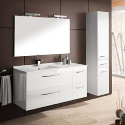 KETTY BY AMBIANCE BAIN - AMBIANCE BAIN modular units comprise numerous ranges of stylish ready-made designs. They are available in set sizes with set specifications. Simply follow the steps below and you will soon be on your way to your new bathroom.