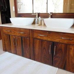 Mellowood Furniture Vanity unit - Mellowood Furniture Design.  Custom made sleeper wood vanity unit
