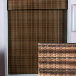 Arlo Blinds - Tibetan Bamboo Roman Shade (41 in. x 98 in.) - Give a warm and appealing touch to your home decor with a Roman shadeWindow treatment is made with real bamboo and other environmentally friendly materialsNatural bamboo shade is carefully woven to filter the light in