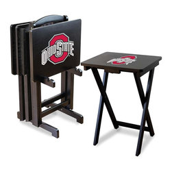 Imperial International - NCAA TV Trays with Stand, N/A, Ohio State University, N/A - Check out these GREAT Tray Tables. They're a great way to show your team spirit on game day or movie night! They're a perfect accessory for your Man Cave, Game Room, Garage or Basement.