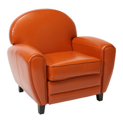Great Deal Furniture - Hayley Leather Club Chair - Relax with the Hayley Leather Club Chair with its soft bonded leather and large padded curves. Sure to be a favorite around the house, the Hayley adds pop to any room.
