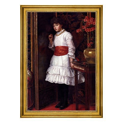 "Maria Matilda Brooks-16""x24"" Framed Canvas - 16"" x 24"" Maria Matilda Brooks The Red Sash framed premium canvas print reproduced to meet museum quality standards. Our museum quality canvas prints are produced using high-precision print technology for a more accurate reproduction printed on high quality canvas with fade-resistant, archival inks. Our progressive business model allows us to offer works of art to you at the best wholesale pricing, significantly less than art gallery prices, affordable to all. This artwork is hand stretched onto wooden stretcher bars, then mounted into our 3"" wide gold finish frame with black panel by one of our expert framers. Our framed canvas print comes with hardware, ready to hang on your wall.  We present a comprehensive collection of exceptional canvas art reproductions by Maria Matilda Brooks."