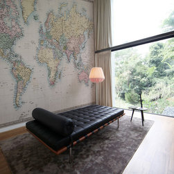 """""""Pastel World Map"""" - Wall Mural by PIXERS - Self-adhesive wall mural, 80 x 50 inches. Other sizes and materials available on request on PIXERS' website"""